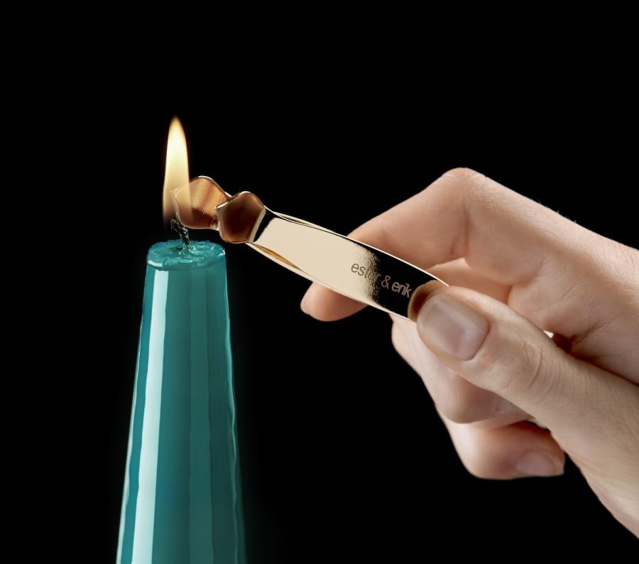Ester&Erik stalo žvakių dagčių užgesiklis (auksinis)