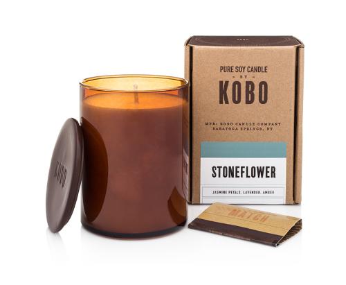 """Kobo Woodblock """"Stoneflower"""" žvakė"""