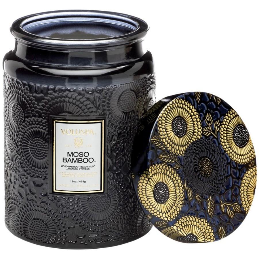 """Voluspa Japonica """"Moso Bamboo"""" didelė žvakė stikle"""
